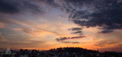 Sonnenuntergang in Geroldsgrün